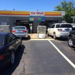 Cars lining up to experience the new Laserwash 360's  at Lakeshore Shell  Stevensville, MI
